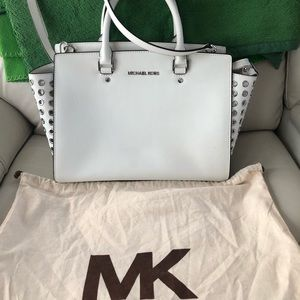 Michael Kors White Leather Purse